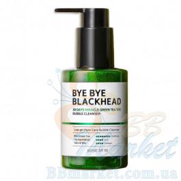 Маска-пенка от чёрных точек SOME BY MI Bye Bye Blackhead 30 Days Miracle Green TeaTox Bubble Cleanser 120g