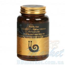 Многофункциональная ампульная сыворотка с муцином улитки Farm Stay Escargot Noblesse Intensive Ampoule 250ml