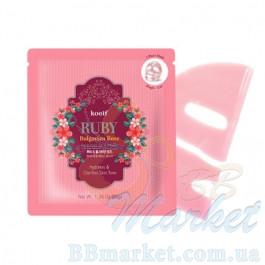 Гидрогелевая маска для лица с рубином  KOELF Ruby & Bulgarian Rose Hydro Gel Mask 30g - 1 шт