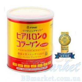 Японский питьевой коллаген Fine Japan Hyaluron & Collagen + Q10 Japan Premium 196g