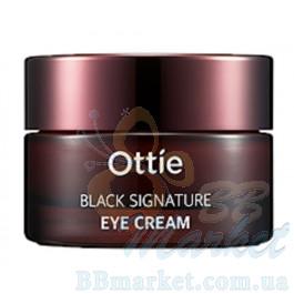 Омолаживающий крем для глаз с муцином черной улитки Ottie Black Signature Eye Cream 30ml