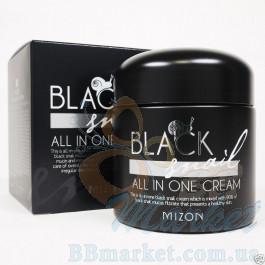 Крем  с экстрактом Черной Улитки MIZON Black Snail All in One Cream 75ml