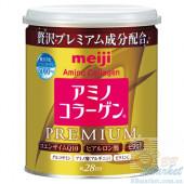 Японский Премиум Питьевой коллаген+гиалуроновая кислота+Q10 MEIJI Amino Collagen Premium (can) 200g (на 28 дней)
