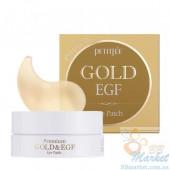 Гидрогелевые патчи для глаз с золотом и EGF - PETITFEE Premium Gold & EGF Eye Patch - 60шт