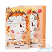 Elizavecca Трехступенчатая Осветляющая и Увлажняющая  Маска Aqua White Water Illuminate Mask Pack (10 Шт)
