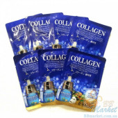 Коллагеновые маски EKEL Collagen Ultra Hydrating Essense Mask 10 шт
