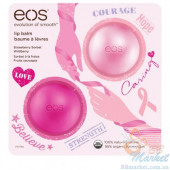 Набор бальзамов EOS Smooth Lip Balm BCA 2-Pack: Sphere (strawberry sorbet & wildberry)