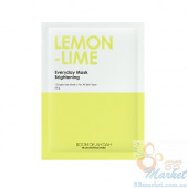 Осветляющая ежедневная маска для лица с экстрактами лайма и лимона BOOMDEAHDAH Everyday Mask Lemon-Lime 25g