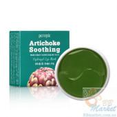 УЦЕНКА! (Помятая упаковка) Гидрогелевые успокаивающие патчи для глаз с экстрактом артишока PETITFEE Artichoke Soothing Eye Mask 60шт