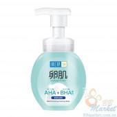 Мягкая пенка-пилинг для лица HADA LABO AHA+BHA Exfolication Face Wash 160g