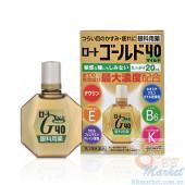 Японские глазные капли (мягкий тип) Rohto Gold 40 Light Eye Drops 20ml