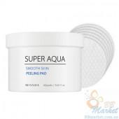Пилинг диски с AHA и BHA кислотами MISSHA Super Aqua Smooth Skin Peeling Pad 60шт