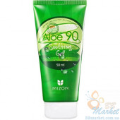 Гель с экстрактом алое Mizon Aloe 90 Soothing Gel  - в тубе 50мл
