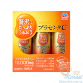 Японская питьевая плацента с гиалуроновой кислотой и витамином С Earth Placenta C Drink 50ml х 3шт.