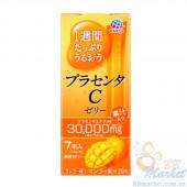 Японская питьевая плацента в форме желе со вкусом манго Earth Placenta C Jelly Mango 70g (на 7 дней)