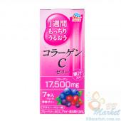 Японский питьевой коллаген в форме желе со вкусом лесных ягод Earth Collagen C Jelly 70g (на 7 дней)