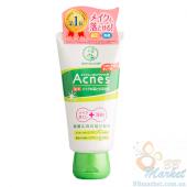 Лечебный крем-гель для умывания + средство для снятия макияжа Mentholatum Acnes Medicated Makeup Remover 130g