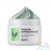 УЦЕНКА! (Помятая упаковка) Освежающая глиняная маска для лица Skin79 Green Tea Purifying Clay Mask 100g
