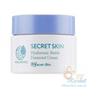 Гиалуроновый крем для лица Secret Skin Hyaluronic Bomb Diamond Cream 50g